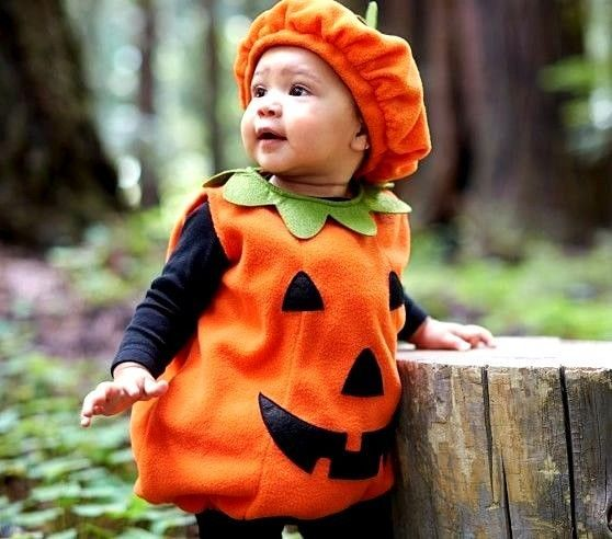 Halloween Pumpkin Costume Infant Toddler Soft Comfy Up To 12 Months Baby Costume #Halloween #Baby #Infant