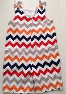 New Lolly Wolly Doodle Multi Chevron Outfit Romper Jumpsuit Shortall 4 Zigzag | eBay