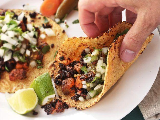 Crispy Potato and Chorizo Tacos