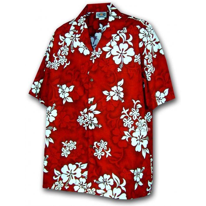 chemise hawaienne ...RED HAWAII