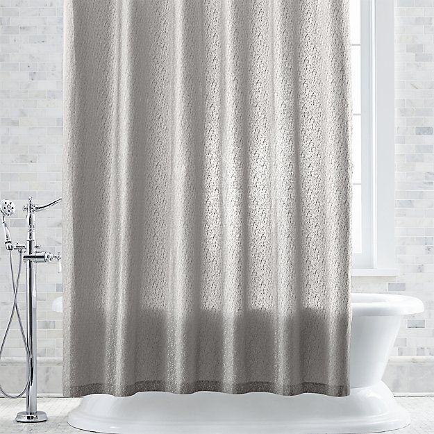 Elaan Neutral Shower Curtain