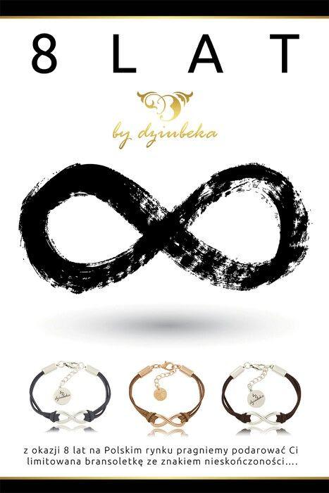 Dziś obchodzimy ósme urodziny. Z tej okazji przy zakupach powyżej 150 zł otrzymasz bransoletkę Infinity. Więcej na www.bydziubeka.pl w zakładce promocje. #bydziubeka #jewelry #birthday #bracelet #infinity