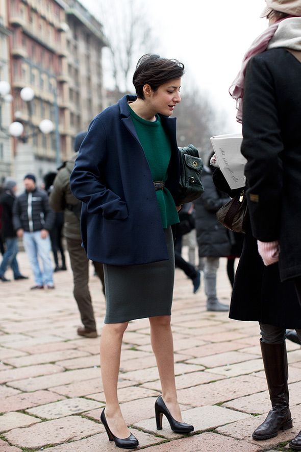 On the Street….. At Roberto Cavalli Part II, Milan. From The Sartorialist,