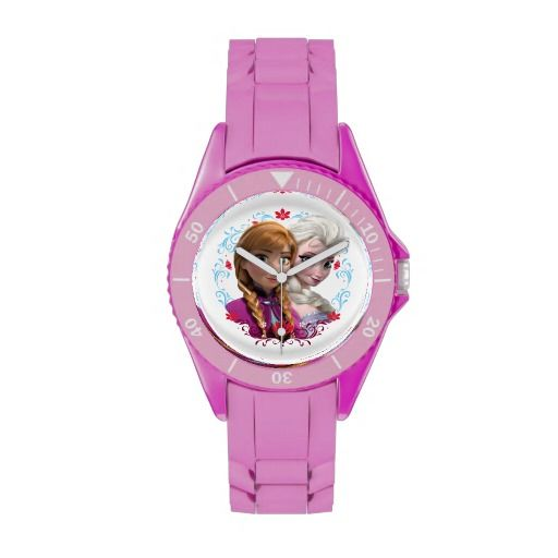 Strong Bond, Strong Heart Disney Frozen Wrist Watches are pretty in pink but you can customize the band color if you like.  This would be a great gift or an older girl or an adult Frozen lover.  Made by E Watch Factory and printed for Disney at Zazzle.