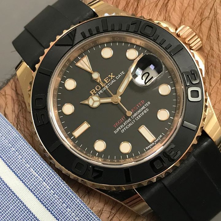 Rolex Yachtmaster Everrose in stock in Preowned!  Call for pricing  #rolexyachtmaster #rolex #rolexwatch #luxury #shit #gold #toilet