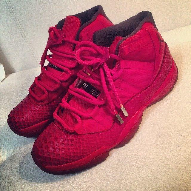 746ed40c2f227 Best Gift Nike Air Jordan 11 Retro Cheap sale J2K Black Red ...