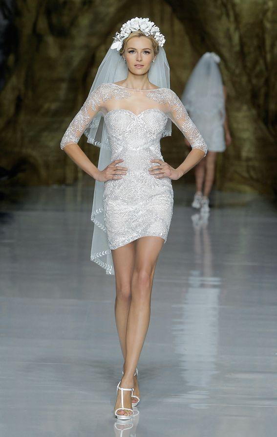 Pronovias short wedding dress http://www.alderbrookresort.com/weddings/