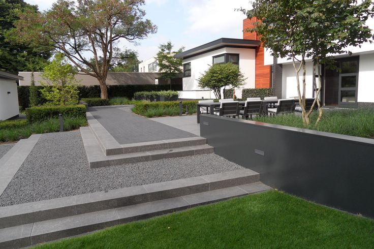 Exclusieve tuin moderne tuin strakke tuin villa tuin for Moderne tuin met overkapping