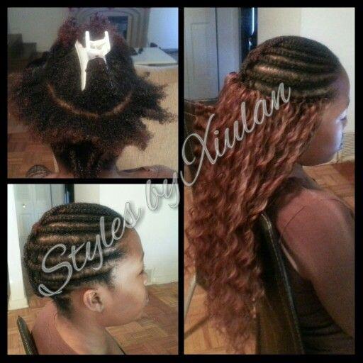 I like the braid pattern. Long Crochet Braids using Freetress Twin Deep #StylesByXiulan