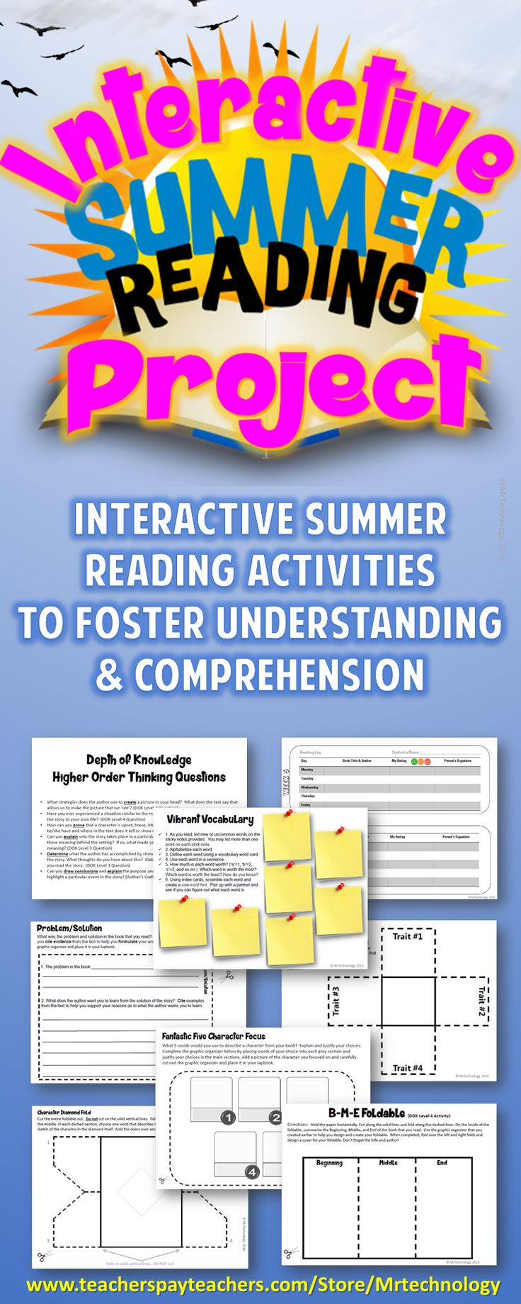 nteractive Reading Project Activities to Foster Understanding & Comprehension during summer vacation Make summer reading not only fun, but interactive with in a differentiated way! Not all students enjoy reading, but with our Summer Interactive Reading Lapbook Project, students will have a sense of self-directed learning as they choose what to use for their lapbook project! Perfect for Summer Vacation Family Partnerships, Home School, or Summer Tutoring!