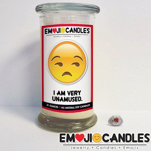 I Am Very Unamused - Emoji Candles. Add a little fun & personal touch to your gift.. with an Emoji Candle! Yes, the Emojis everyone loves now has a candle that will make everyone smile!