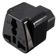 IEC 320 C14 to UK US AU universal Female Power Adapter AC Power Plug Connector