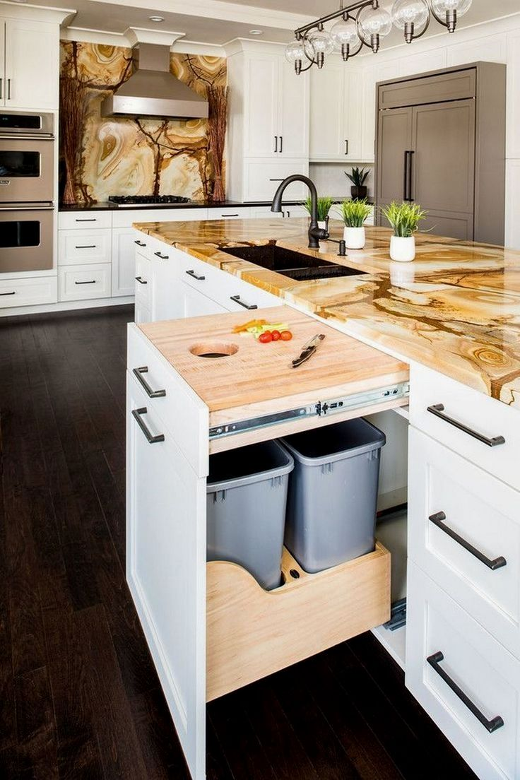 Gain Space With Clever Designed Kitchen Islands Cuisines Design