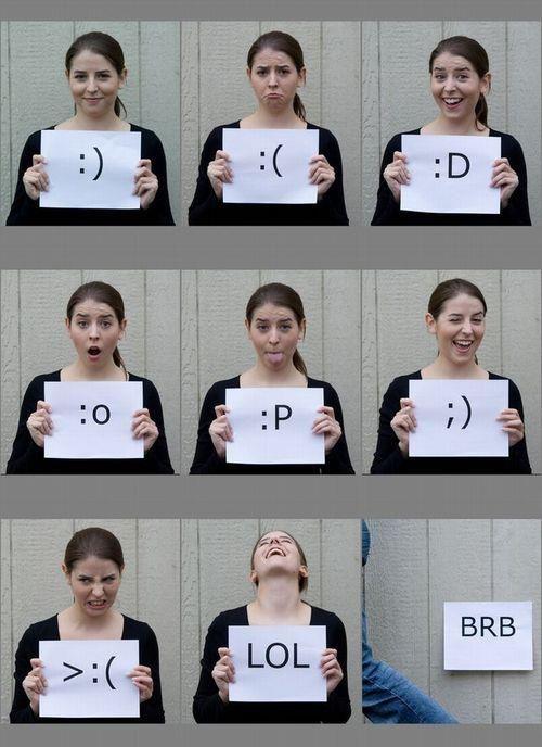 Girl Posing for Internet Slang Words
