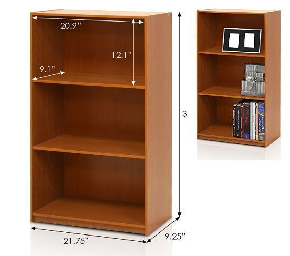 Small Low Bookcase Kids Children Book Shelf Storage Office Den Hallway Cherry  #SmallLowBookcase