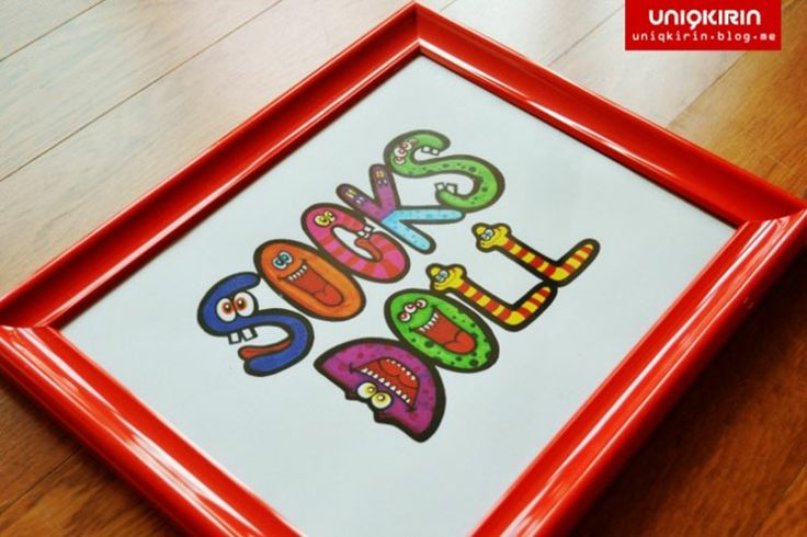 Hi there. I'm an visual artist and graphic designer Lucy Kirin on UNIQKIRIN from South korea. We offer to design 'Random Monster' Typography with your name in Korean. and we make a custom designed frame with this 'Random Monster' Typography. Thank you for watching my art works. :)  [Red : Socks Plz (삭스플리즈)][Red : Socks Doll (삭스돌)] / Random Monster / Graphic Design, Typography with Illustration by UNIQKIRIN.