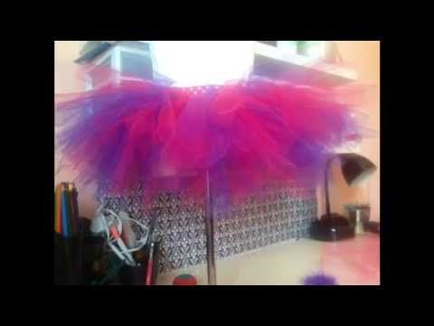 How to make a NO SEW tutu.  Quick and easy video tutorial on how to make an adorable baby girl tutu.  Check video for sizing and lengths!  http://www.boutiquesupplyco.com
