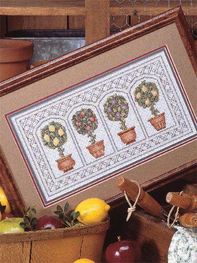 topiary cross stitch