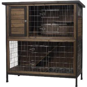 Super Pet Rabbit Hutch, 2-Story. If we ever decide to make him stay outside, this would be fantastic!