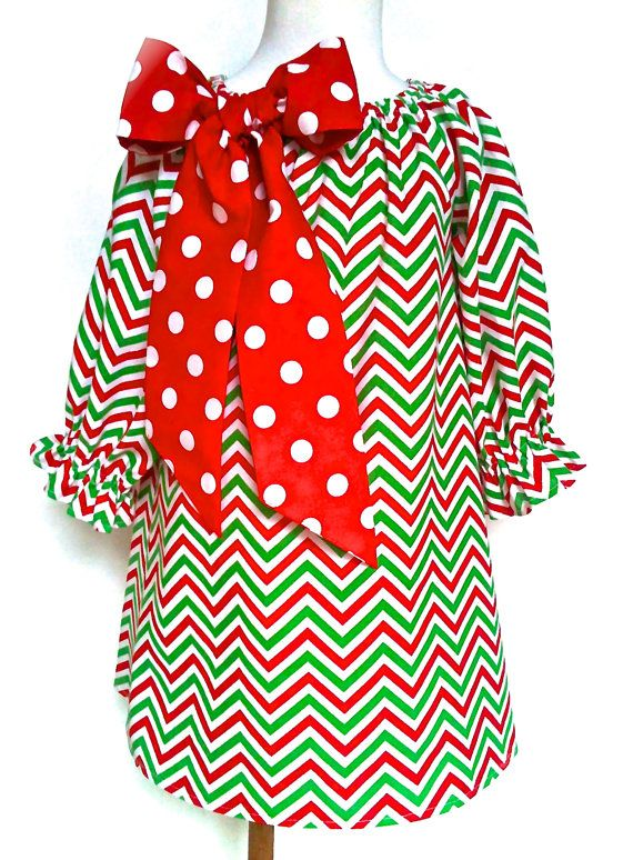 Oh my word.  I am definitely getting a dress like this for the girl.  Love.  L-O-V-E.  LOVE!  Christmas Dress Toddler Dress Girls Dress Chevron by 8thDayStudio, $36.00