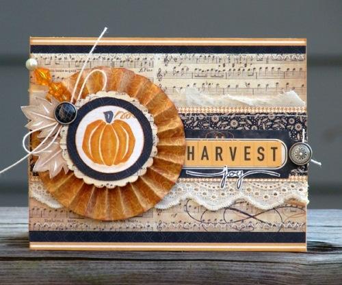 HarvestAudrey Pettit, Bottle Cap, Cards Autumn, Fall Cards, Autumn Cards, Thanksgiving Cards, Harvest Joy, Paper Crafts, Joy Cards