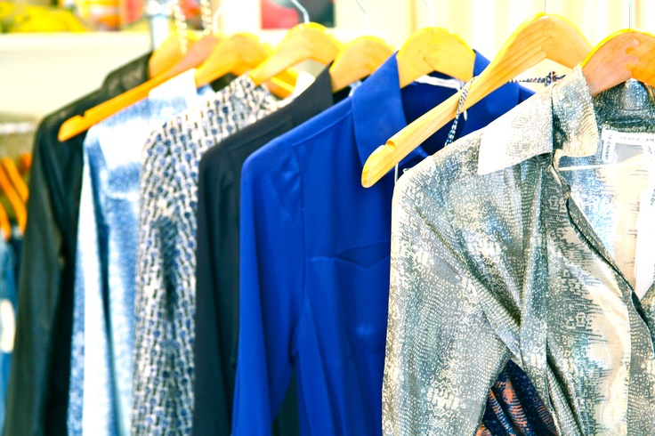 10 crosby by Derek Lam mix of blues and lizard print for the summer