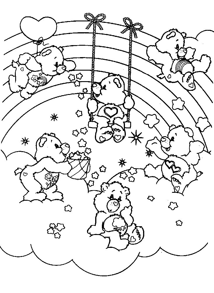 77 best Coloring Care Bears images on Pinterest Care bears
