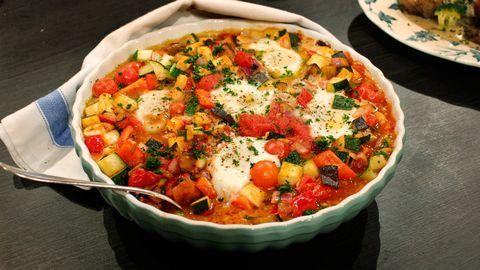Shakshuka - grönsaksgryta med ägg