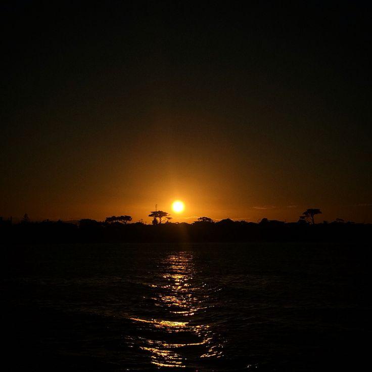Sunrise over Mordialloc and Aspendale, Melbourne, Australia.