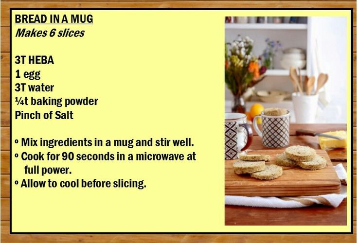 Bread in a mug - Heba