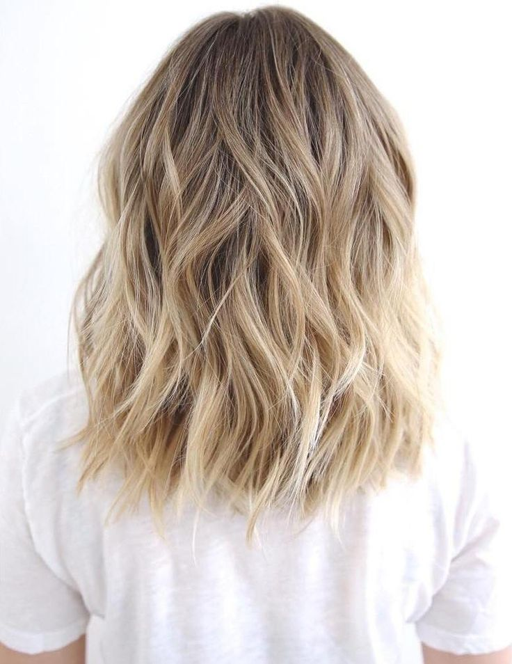 Medium To Long Wavy Brown Blonde Hair - beachy waves, honey blonde balayage, this style could last a couple days, just spritz some dry shampoo on roots and mid-shaft, finish with a little spray shine.