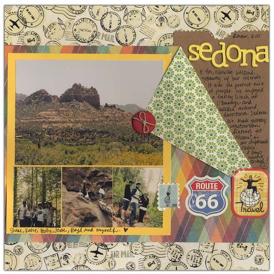 vacation scrapbook layouts | Travel Scrapbook pages.... / Layout: Sedona - 2011