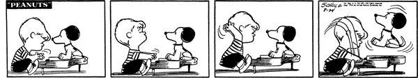 August 24, 1954 - Schroeder & Snoopy