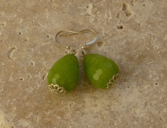 Gorgeous Jade Earrings Feminine Gemstone by ShawlsandtheCity, $14.00