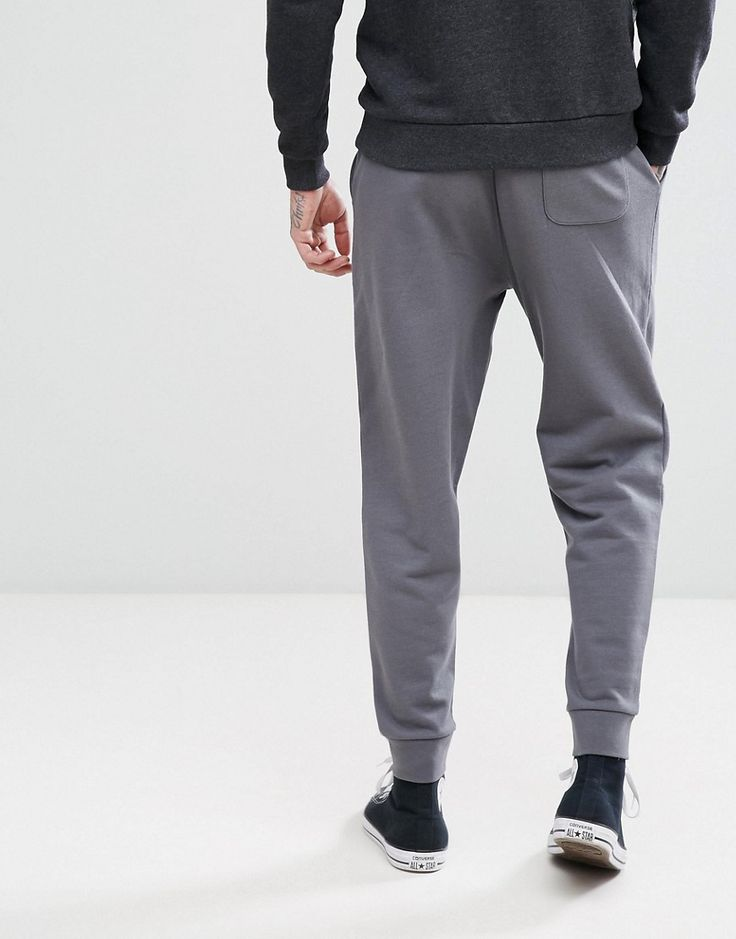 ASOS Slim Fit Joggers In Washed Black - Blue