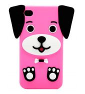 Pink Dog iphone case for 4, 4G, 4S A novel iPhone Case that is easily put on to your iPhone Made of a Soft Silicone Gel