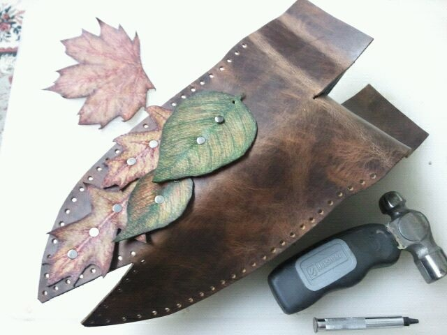 Leather Knife case Process/Tooling