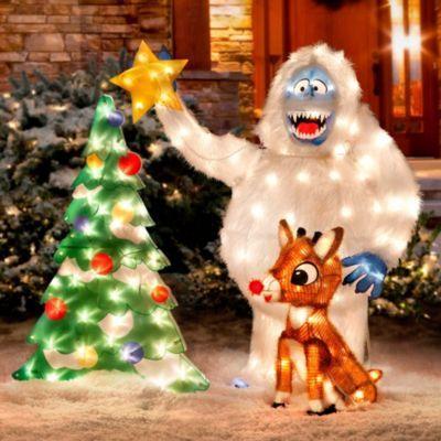 Rudolph And Bumble Outdoor Christmas Decor