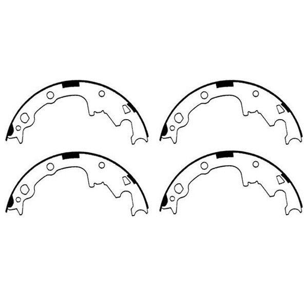 Rear Brake Shoes; 90-00 Cherokee/Wrangler/Comanche