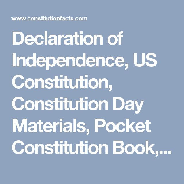 Declaration of Independence, US Constitution, Constitution Day Materials, Pocket Constitution Book, Bill of Rights