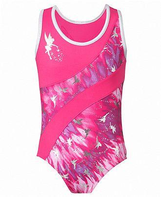 Capezio Kids Leotard, Girls or Little Girls Tinker Bell Tie-Dye Swirl Gymnastics Leotard - Kids - Macy's
