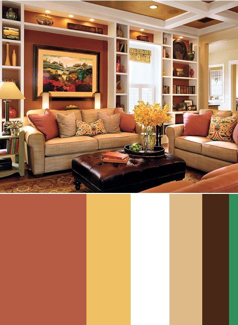 I like this red and yellow color Warm ColorsCozy Living RoomsLiving