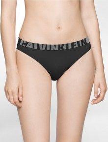 Calvin Klein černé bezešvé kalhotky Seamless