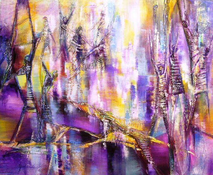Esta bella pintura abstracta intenta cambiar nuestro estado de ánimo para bien.