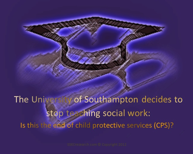 """The true origin of social services originated from one source and that one source is suspect to promoting an agenda that is in place to secure profit and control over the family unit, as opposed to strengthening it. Eugenics, became the objective thus, sociology through academia was used to create ""experts"" to perpetuate that control.     Congratulations, to the administration at Southampton for having the courage to go through with this decision."": Workers Facebook, Corrupt Social, Postgradu Students, Families United, Social Workers, Workers Finals, 7 000 Postgradu, Towardchang Activists, Students Announcements"