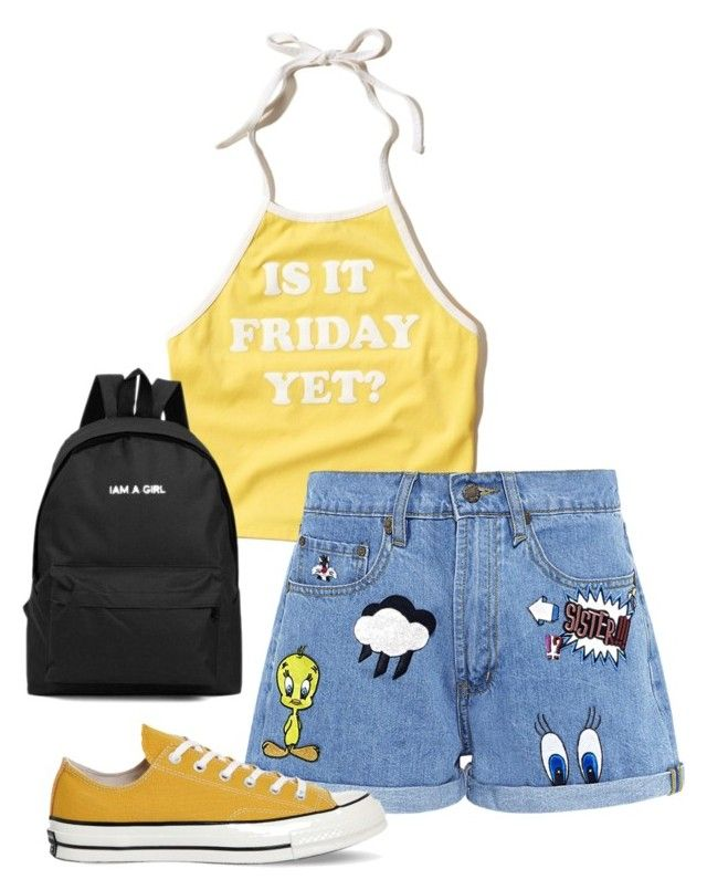 """""""It´s friday yet?"""" by desi2003 on Polyvore featuring moda, Hollister Co., Paul & Joe Sister y Converse"""