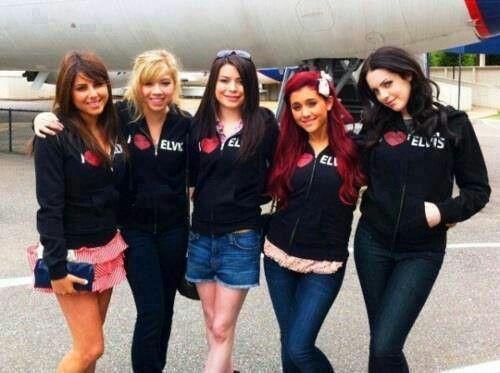 Daniella Monet, Jenette McCurdy, Miranda Cosgrove, Ariana Grande and Liz Gillies.