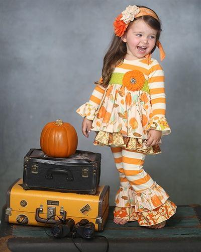 Giggle Moon clothing Thankful Hearts Madison Dress & Ruffle Pant Set Fall 2014 Preorder