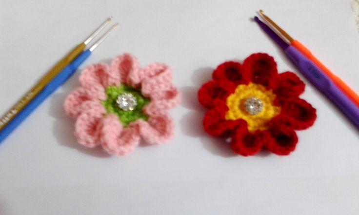How to crochet flower 8 petal / Video Tutorial