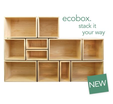 Exciting NEW LUNDIA PRODUCT! ecobox. stack it your way... a flexible, attractive, sturdy and modular storage system which oozes natural style!  http://lundia.co.nz/products/storage/ecobox/ecobox/ • NZ made & Eco friendly • Available in 4 finishes • Easy to assemble • Stylish & built to last • Natural sustainable timber